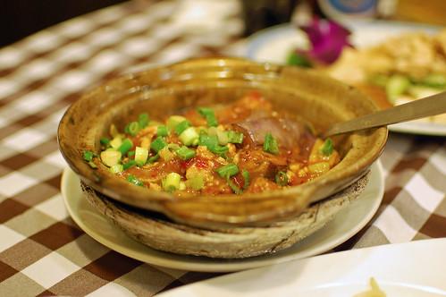 Spicy Aubergine Hotpot