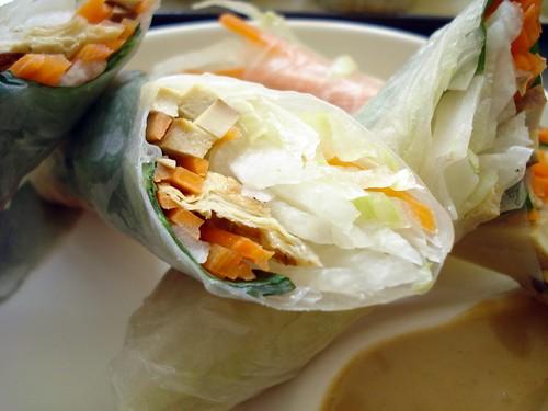 cold basil rolls
