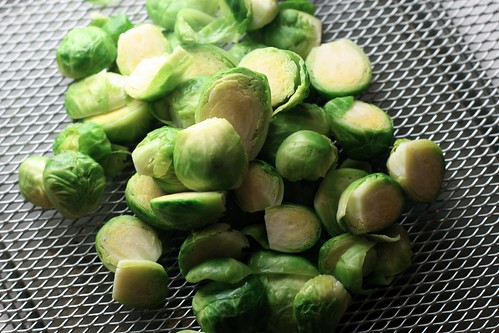 brussels sprouts, blanched