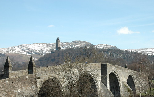 Old Stirling Bridge and Wallace Monument