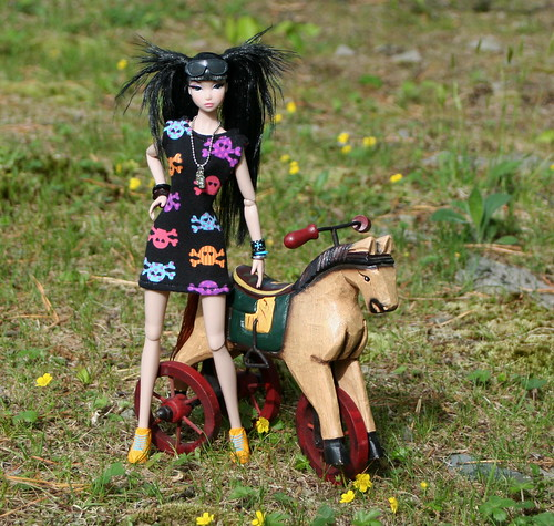 Misaki And Her Pony Tricycle