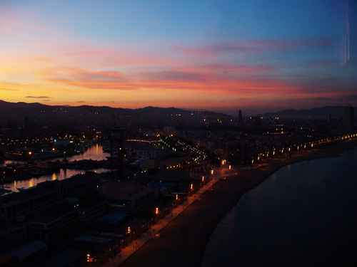 barcelona view sunset