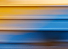 Yellow blue abstract lines
