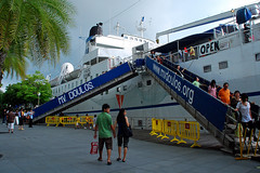 Gangway to MV Doulos
