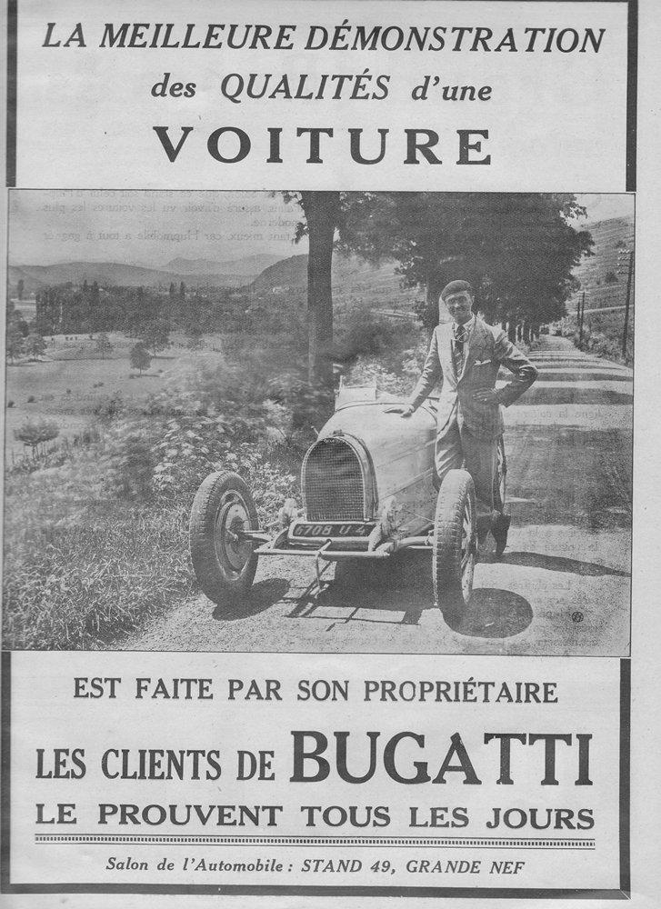 Bugatti Anzeige 1928