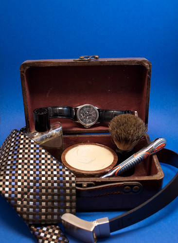 Shaving Set on Blue