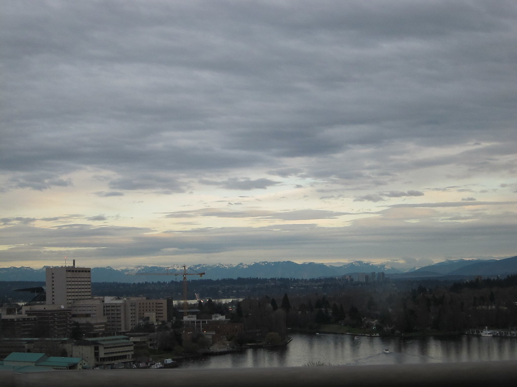 Cascade Mountains Over Portage Bay, Seattle