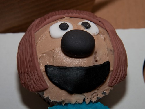 Cirencester Cupcakes - Rolf Character Cupcake