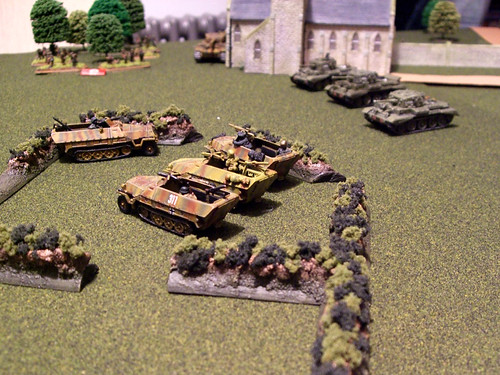 British Cromwells intercept the Panzergrenadier advance
