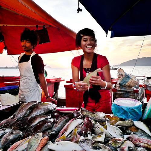 fresh fish and free sunset!