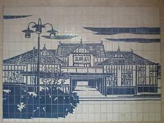 旧高崎駅のタイル画(Tile picture of old Takasaki Sta., Japan)