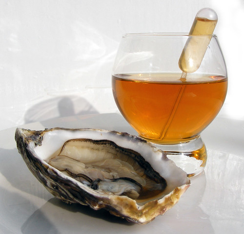Oyster with Kimchi Consommé
