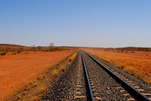Outback train line