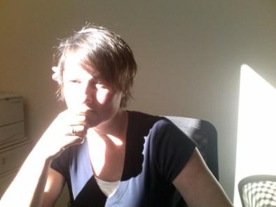 morning light, in my office