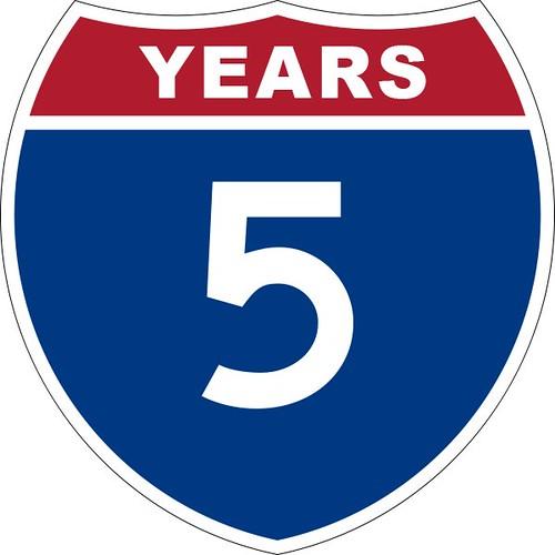 5 years blogging