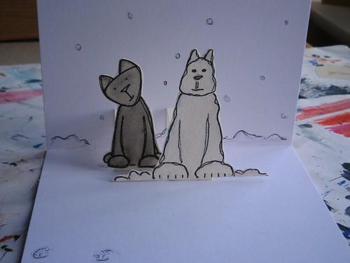 20100106 snow kitty - detail