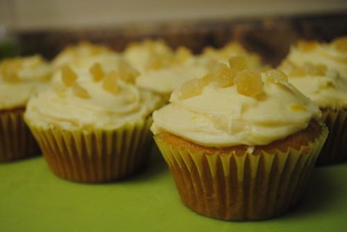 [66/365] Lemon-Vanilla with Lemon Cream Cheese Frosting