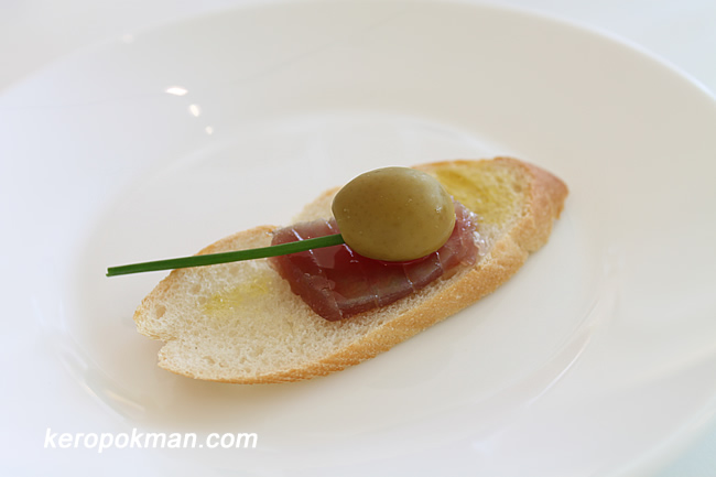 Tostada de Mojama (Cured Tuna on Toast)