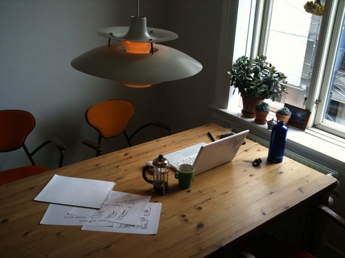 What my CPH work space looks like at the moment