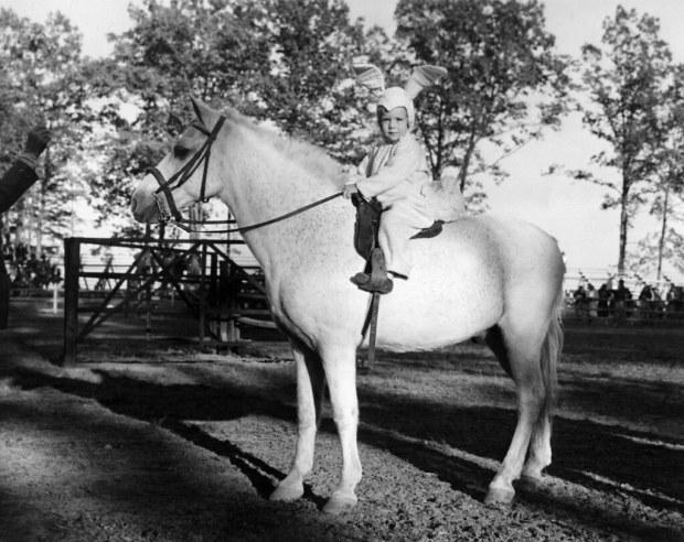 Baby Bunny on horseback (Photo: courtesy of Bunny Williams)