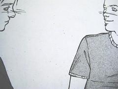 Non ti avevo nemmeno notato, di Sandro Campani (testo) e Daniele Coppi (disegni), Playground 2010; graphic designer: Federico Borghi , p. 47 (part.)