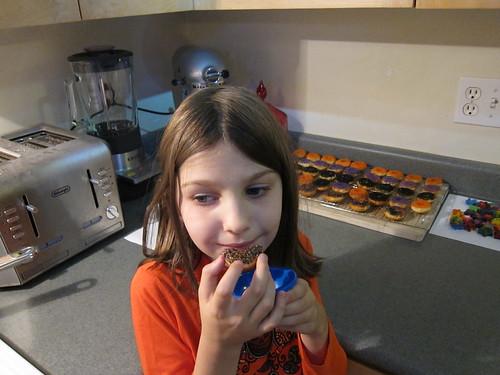 Sym Tries the Halloween Doughnuts