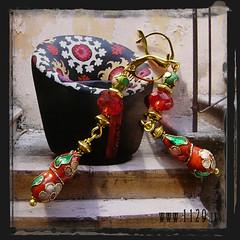 orecchini rossi - red earrings INZURO