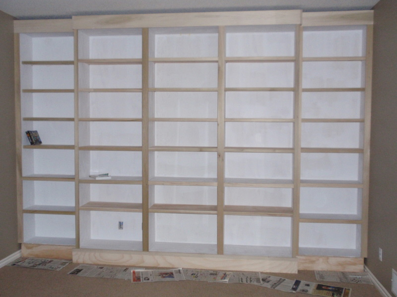 Partially Primed Bookcases