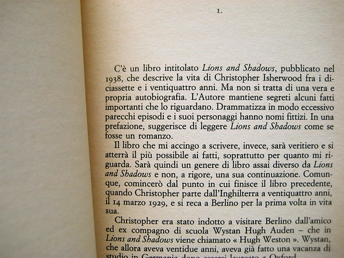 Christopher Isherwood, Christopher e il suo mondo, SE 1989, p. 11 (part.)