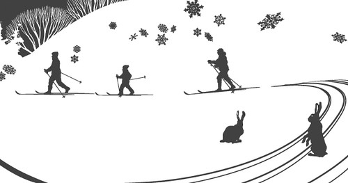 +15 illustration (winter activities scene) detail