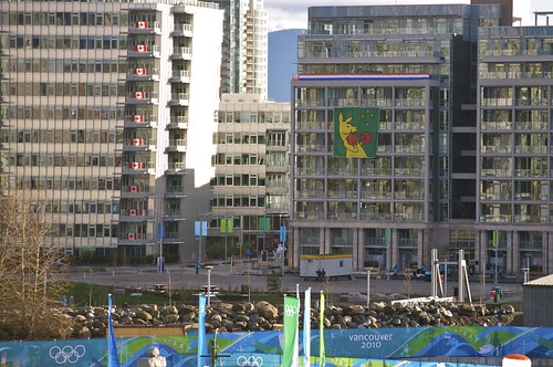 Athletes taking over Olympic Village