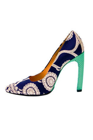 Dries Van Noten silk shoes, $1,095, from Belinda.
