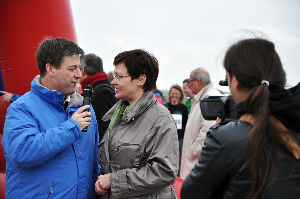 Senatorin für Stadtentwicklung Berlin, Ingeborg Junge-Reyer beim Interview