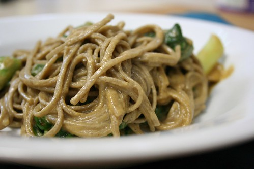 Soba Noodles with Bok Choy and Tahini