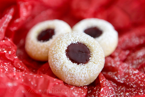 Lemon Raspberry Thumbprint Cookies