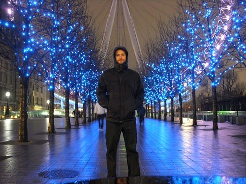 Outside the London Eye