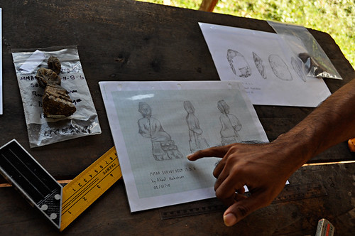 Norseng Draws the Buddha Offerings Found in Tham Kok Muh