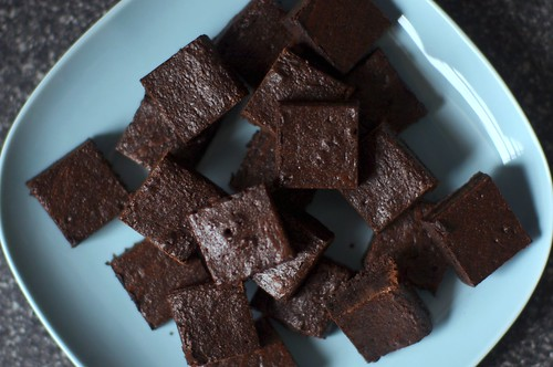 really dark cocoa brownies