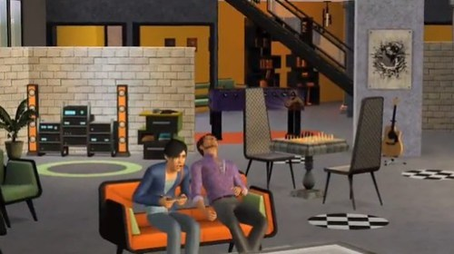 Screens from The Sims 3 High End Loft Stuff trailer