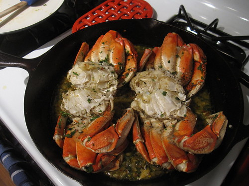 dungeness crab with orange chile sauce