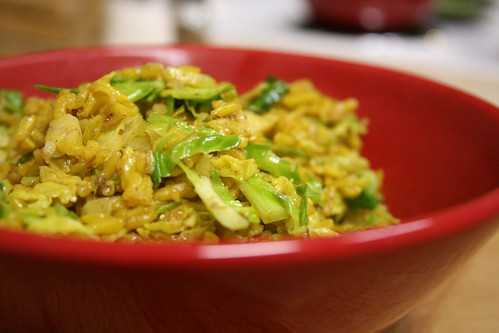 Brussels sprout and brown rice salad
