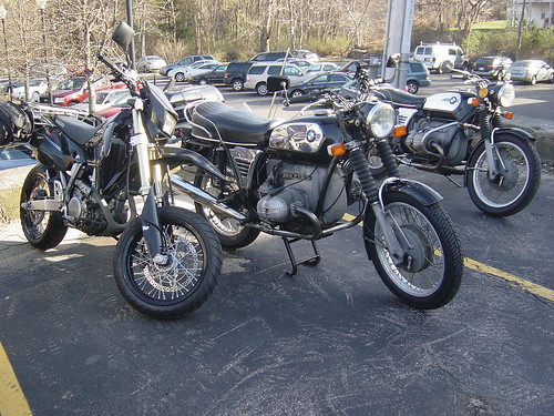 Two BMW R75/5 with toaster tank