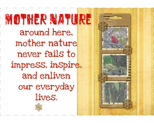 mother nature collage
