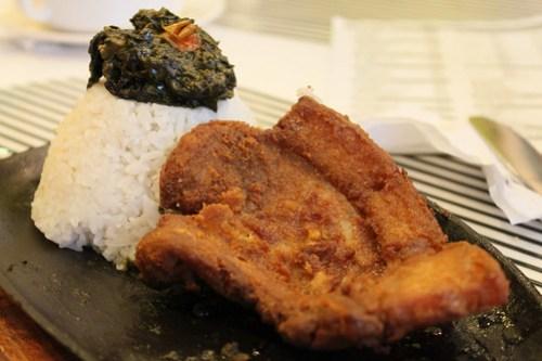 Pork Chop Rice Meal at Biggs Diner