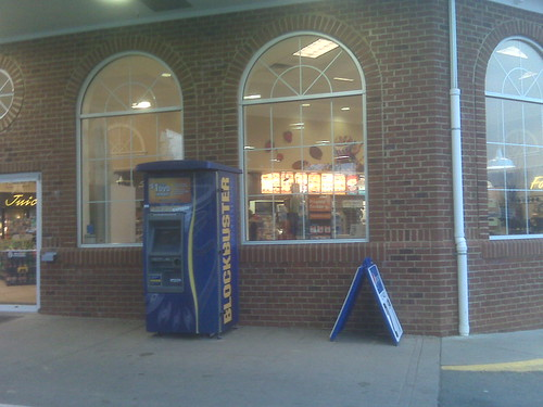 A Blockbuster kiosk in Crozet