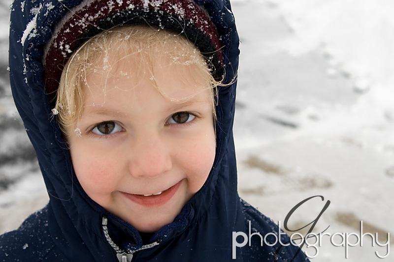 Natalie in the snow