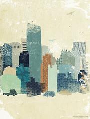 city / old illustration