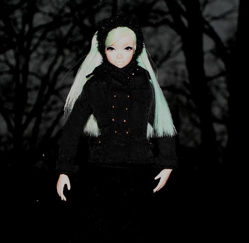 Misaki Wanders In The Dark Forrest