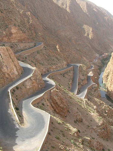Mountain road at Dades valley