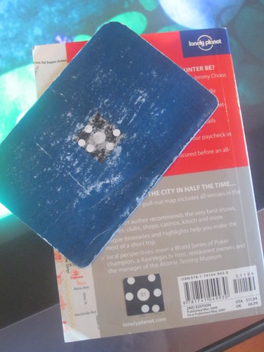 """Lonely Planet passport and guide with Microsoft Surface """"barcode"""""""